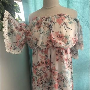 dress fromSocialite floral embellished sleeve